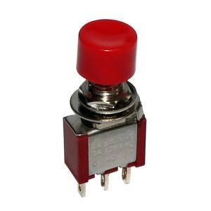 Chave Push Button 3T 2A/250V - Vermelha