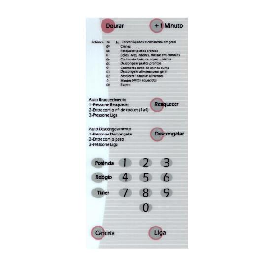 Membrana forno microondas brastemp bmp 31 bmp31brc com dourar