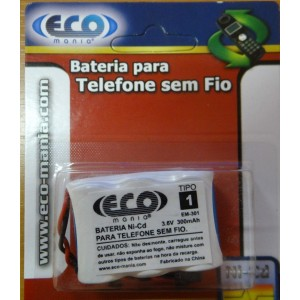 Bateria Recarregável Para Telefone Sem .3.6V 300MAH