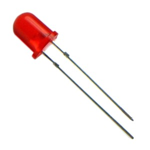 LED de 5mm Vermelho Difuso