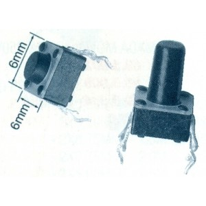 Chave Táctil 6x6 12,5mm