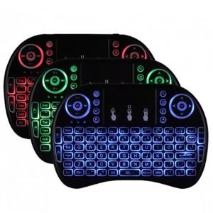 Mini Teclado Wireless Bluetooth Com Luz Pc Tv Box Ps3 Xbox