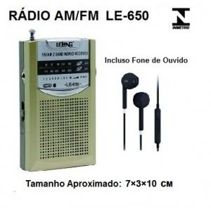 Mini Rádio Portátil AM/FM LE-650 - Lelong