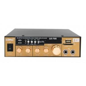 Amplificador Karaokê MP3 Bluetooth Radio FM/USB LE-707 - Lelong