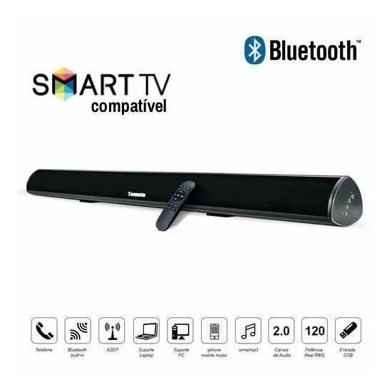 Caixa de Som Soundbar Bluetooth Preto MTS-2018 -TOMATE
