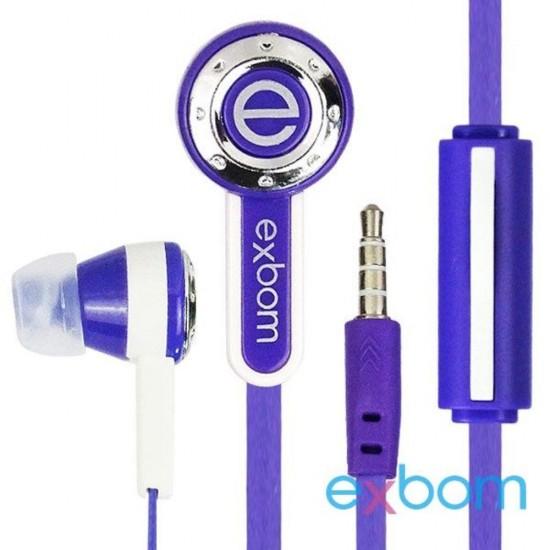 FONE DE OUVIDO C/ MICROFONE EXBOM EF-800MV EF-800MV EXBOM