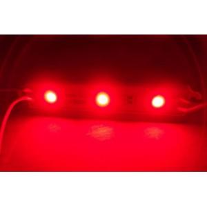 Módulo 3-led 5050 Smd Prova D'agua Vermelho 12v Kit Com 3