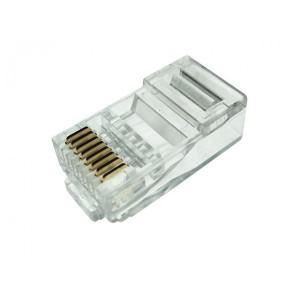 Plug Conector Rj45 Macho - Cat 5e 8 Vias - Crimpar